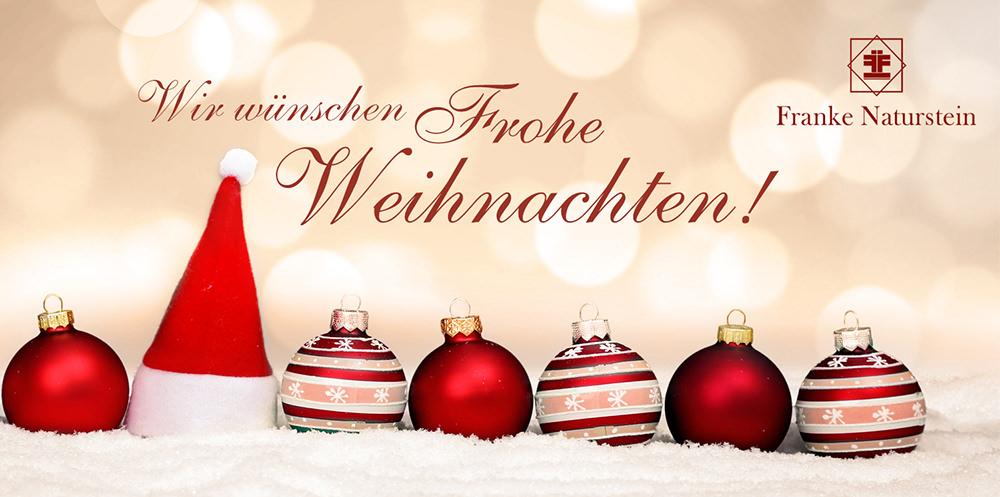 Franke Naturstein Weihnachten 2018