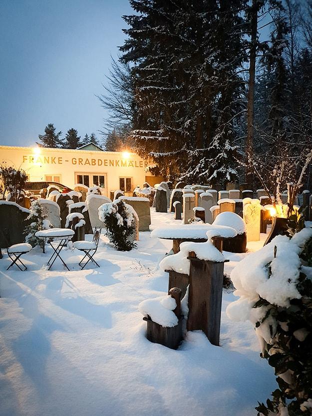 Franke Naturstein im Winter