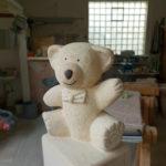 Franke Naturstein - Bären aus ägyptischem Kalkstein-1