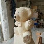 Franke Naturstein - Bären aus ägyptischem Kalkstein-2