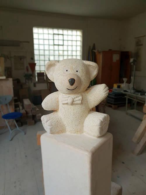 Franke Naturstein - Bären aus ägyptischem Kalkstein-3