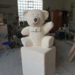 Franke Naturstein - Bären aus ägyptischem Kalkstein-4